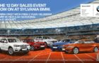 Sylvania BMW 12  Day Sales Event 20-31 August