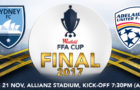 FFA Cup Final – Tues 21 Nov. Allianz Stadium