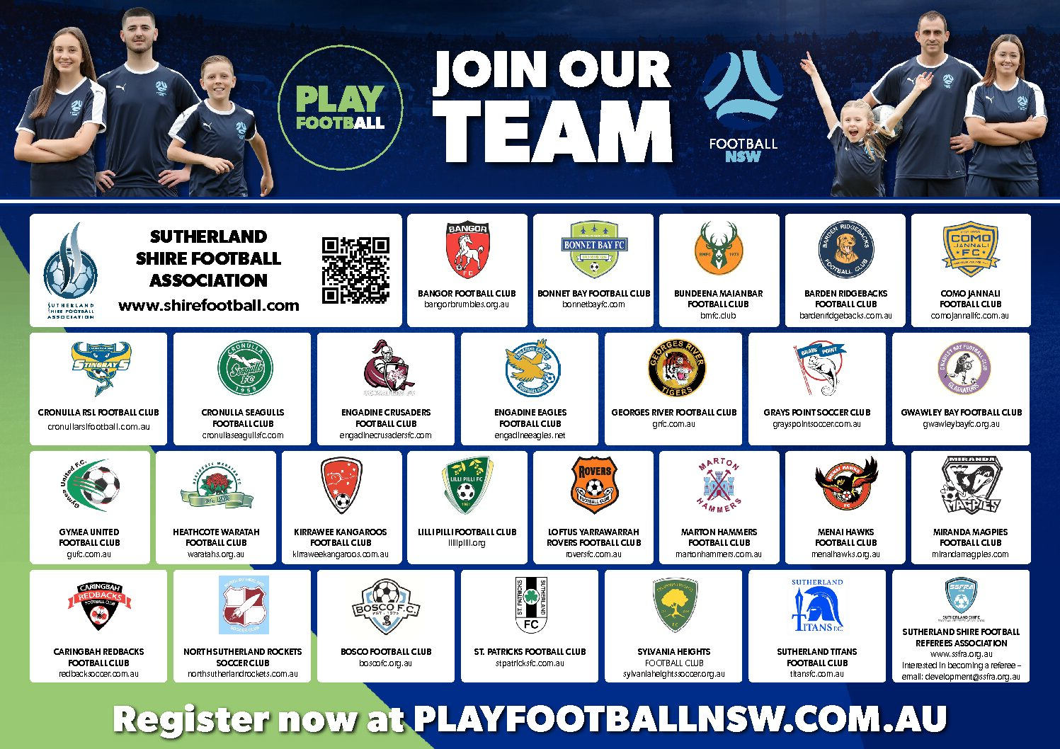 Registrations for the 2021 SSFA Season