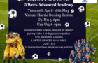 SSFA 5 WEEK ADVANCED GIRLS ACADEMY (COMMENCING TUESDAY 20TH APRIL)